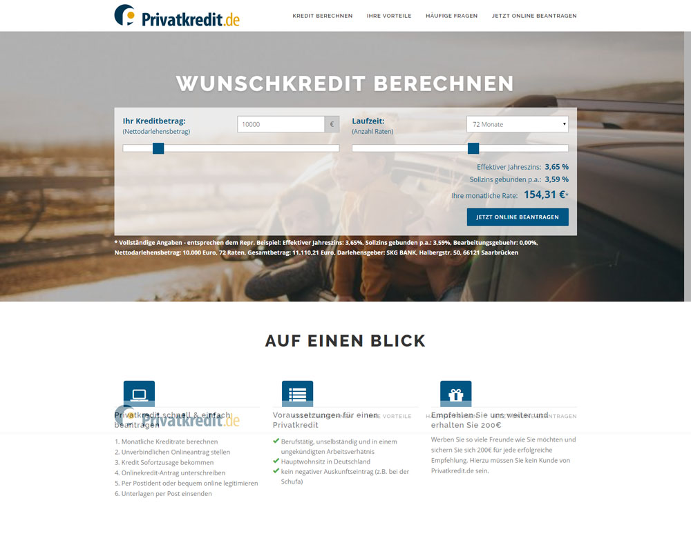 Privatkredit.de-Screenshot vom 12.01.2017