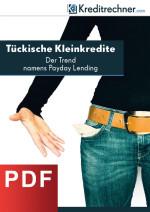 Deckblatt der Studie zu Kleinkrediten in Deutschland 2015